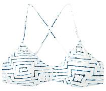 Tie Dye Tile Crossback - Bikini Oberteil