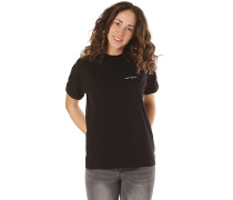 Script Embroidery - T-Shirt - Schwarz