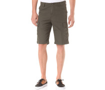 Regular Cargo Shorts - Grün