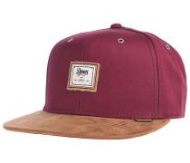 6P SB 10oz Canvas Snapback Cap - Rot