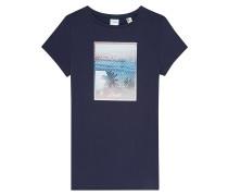 Palm Photo Print - T-Shirt - Blau