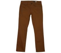 Vorta 5 Pocket Slub - Stoffhose - Braun