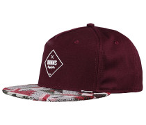 5P SB Rubber Aztek Snapback Cap - Rot