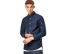 Stalt Clean Long - Hemd - Blau