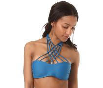 Simply Solid Bandeau - Bikini Oberteil - Blau