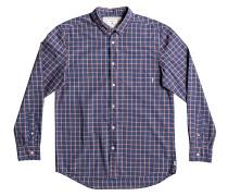 Everyday Check L/S - Hemd - Blau