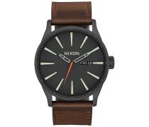 Sentry Lthr - Uhr - Schwarz