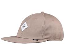 6P SB Deconstructed Diamond Snapback Cap - Beige