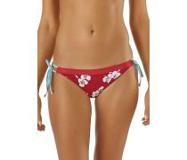 Nanogrip Side Tie Bottoms - Bikini Hose - Rot