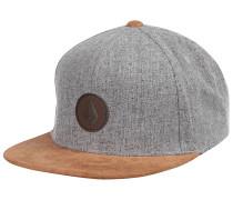 Quarter Fabric Snapback Cap - Grau
