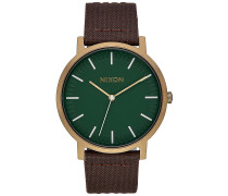 Porter Lthr - Uhr - Grün