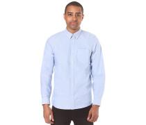 L/S Button Down Pocket - Hemd - Blau
