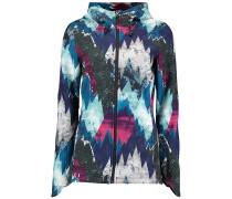 Mountain Print Softshell - Funktionsjacke - Blau