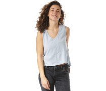 Bare V Neck - Top - Blau