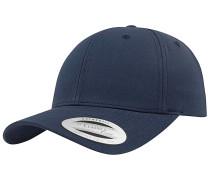 Curved Classic Snapback Cap - Blau