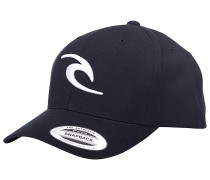Tepan Curved Snapback Cap - Schwarz