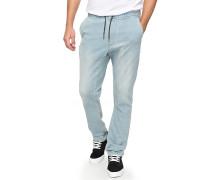 Fonic Straight Fleece - Jeans - Blau