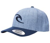 Tepan Curved Snapback Cap - Blau