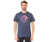 Smiley - T-Shirt - Blau