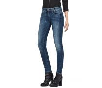 D-Staq 5-Pkt Mid Skinny - Jeans - Blau