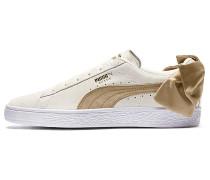 Suede Bow Varsity - Sneaker - Beige