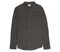 All Day Flannel L/S - Hemd - Grau