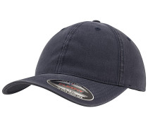 Garment Washed Cotton Dad Cap - Blau