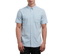 Everett Oxford S/S - Hemd - Blau