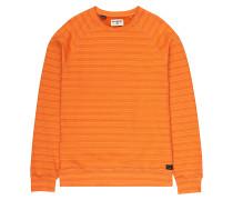 Die Cut Stripe Crew - Sweatshirt - Orange