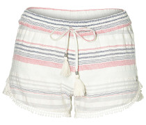 Jacquard Lace Detail - Shorts - Streifen