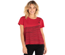 Minimalist Wave Cropped - T-Shirt - Rot