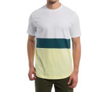 Colorblock Stripe - T-Shirt - Weiß