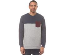 Block Pocket Crew - Sweatshirt - Blau