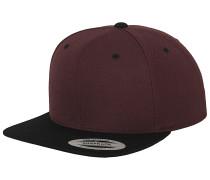 Classic 2-Tone Snapback Cap - Rot