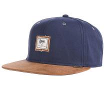 6P SB 10oz Canvas Snapback Cap - Blau