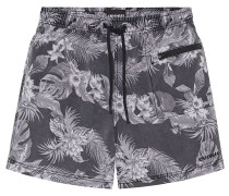 Badehose Used-Look - Boardshorts - Grau