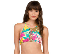 Hot Tropic Crop - Bikini Oberteil - Blau