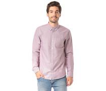 Button Down Pocket L/S - Hemd - Rot