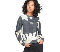 Cropped 1 - Sweatshirt - Schwarz