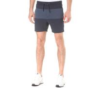 Blocked Jogger - Shorts - Blau