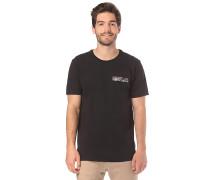 Floral Pocket - T-Shirt - Schwarz