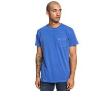 Dyed Pocket Crew - T-Shirt - Blau