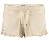 Lace Detail - Shorts - Beige