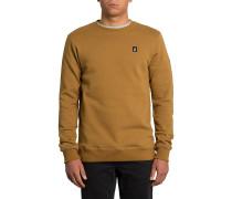 Single Stone Crew - Sweatshirt - Braun