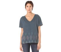 Geo V - T-Shirt - Blau