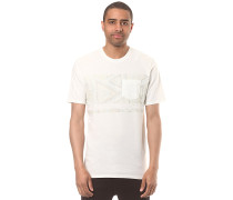 Fading Out Pocket - T-Shirt - Weiß