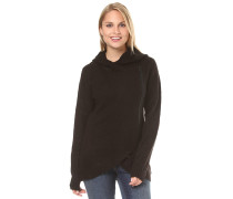 Asymmetric Zip - Strickjacke - Schwarz