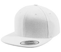 Melton Wool Snapback Cap - Weiß