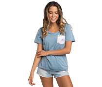 Beauty Pocket - T-Shirt - Blau