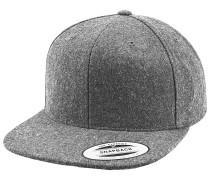 Melton Wool Snapback Cap - Grau